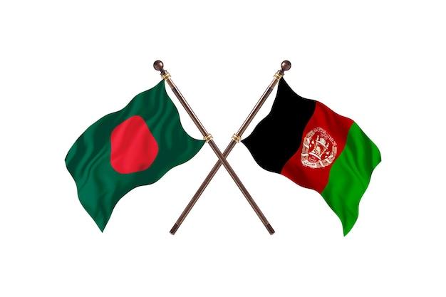 Bangladesch gegen afghanistan flaggen hintergrund