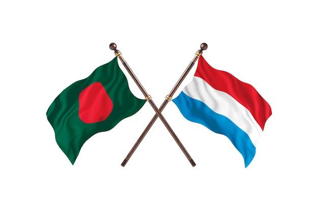 Bangladesch gegen luxemburg flaggen hintergrund