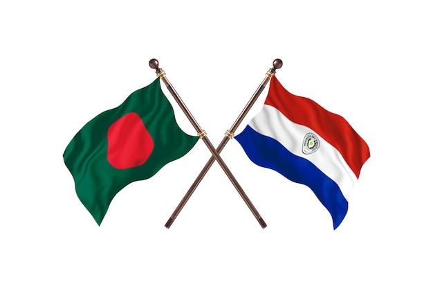 Bangladesch gegen paraguay-flaggen-hintergrund