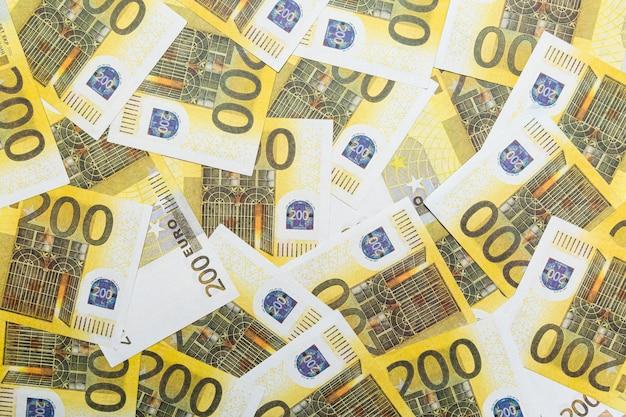 Banknoten 200 euro abstrakter hintergrund