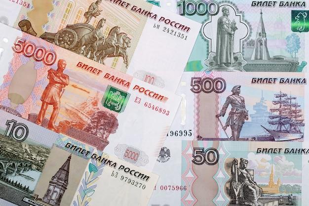 Banknoten des russischen rubels