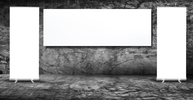 Banner-anzeige in grungy betonraum