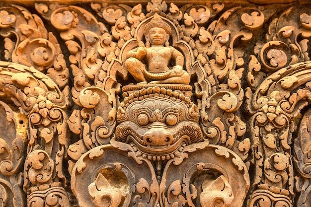 Banteay srei tempel in angkor wat in siem reap, kambodscha Premium Fotos