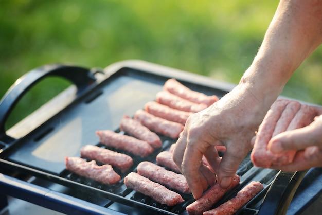 Barbecue bbq grill im freien