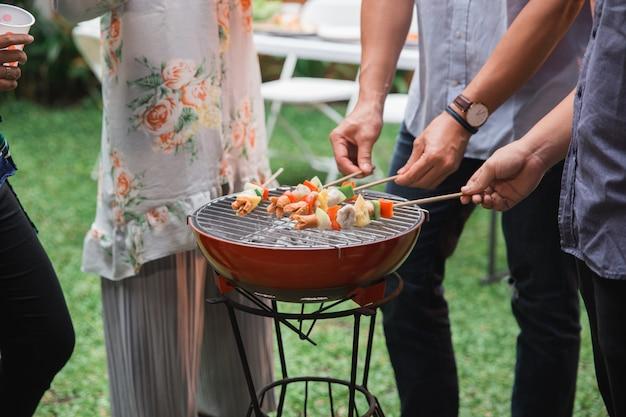 Barbecue mit satay