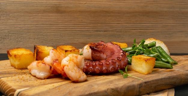 Barbecue octopus tentakel hautnah