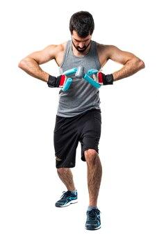 Barbell bodybuilder athletische gesundheit stark