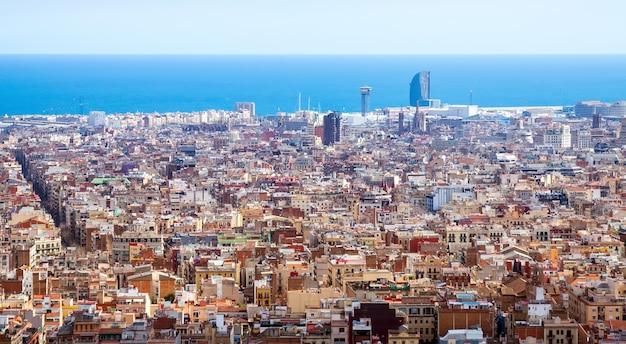 Barcelona am sonnigen tag, spanien