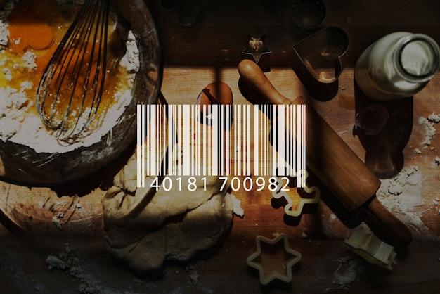 Barcode-scan-einkaufsladen-waren einzelhandelskonzept