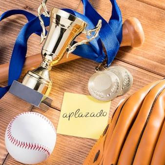 Baseballspiel ausgesetzt