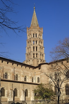 Basilika von saint sernin in toulouse, frankreich