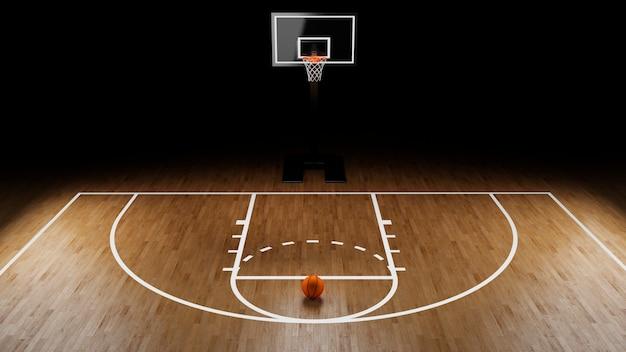 Basketball arena mit ball