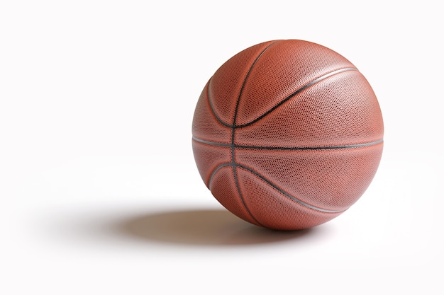 Basketball lokalisiert auf weiß mit beschneidungspfad.