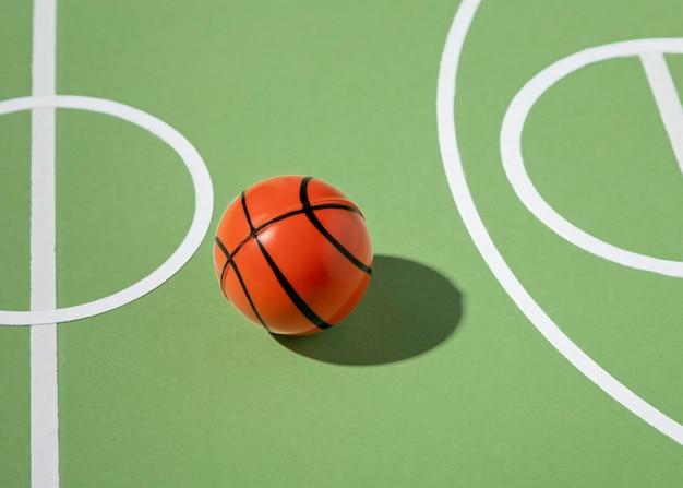 Basketball minimales stillleben