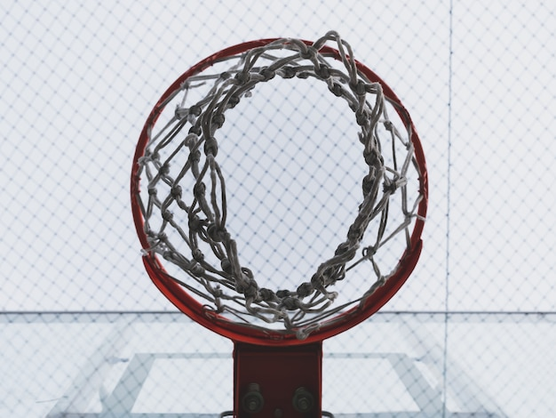 Basketballkorb und filetarbeit