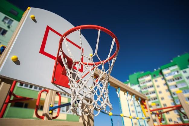 Basketballring im sportbereich