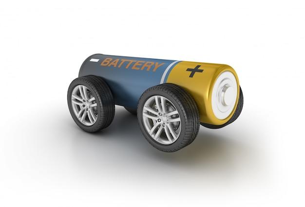 Batterie auf rädern