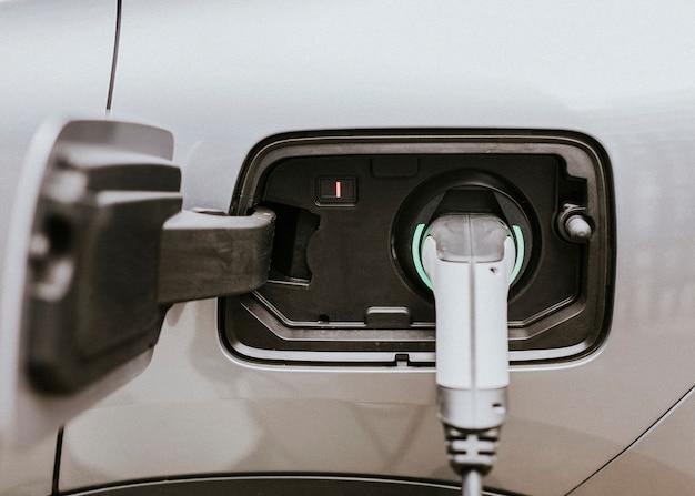 Batterie von elektroautos (evs) wird geladen
