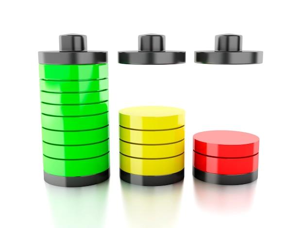 Batteriesymbol mit buntem ladestatus