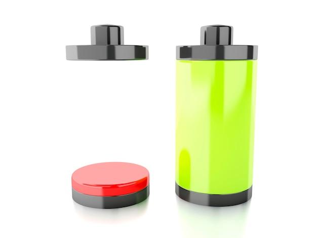 Batteriesymbol mit bunten ladezustand