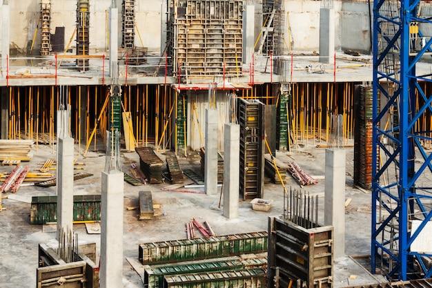 Bau eines neuen betonhauses