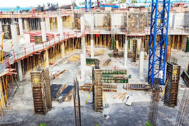 Bau von betonhaus