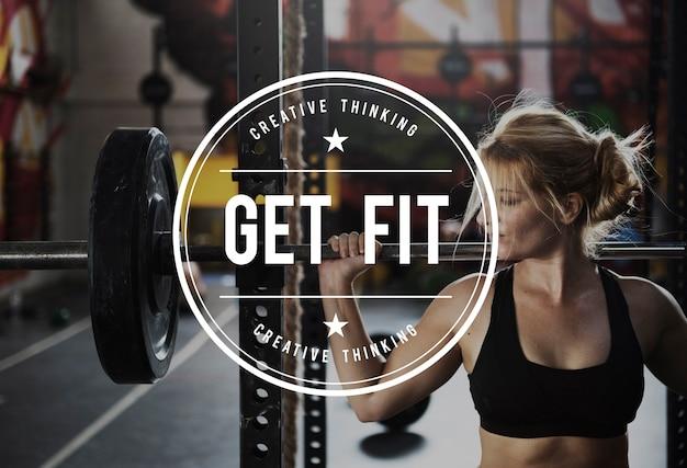 Bauen sie ihre eigene körperkraft fitness-übung get fit
