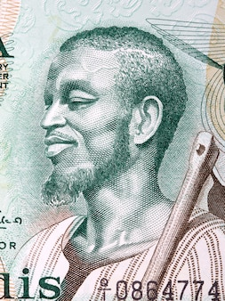 Bauer ein porträt aus ghanaischem geld