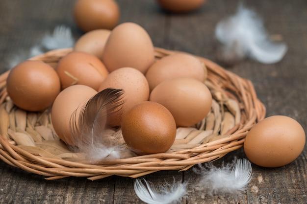 Bauernhof frische bio-hühnereien