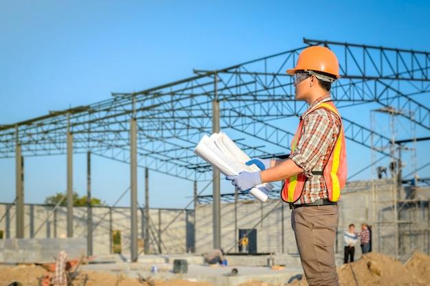 Bauleiter bauplan anzeigen