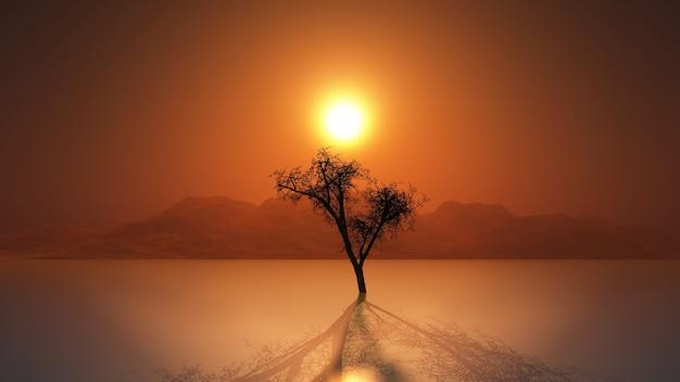 Baum in einem see