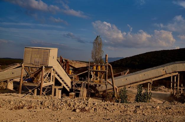 Baumaschinen bulldozer sand kies