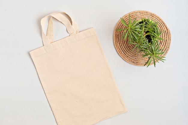 Baumwoll-einkaufstasche ohne abfall, nachhaltigkeit