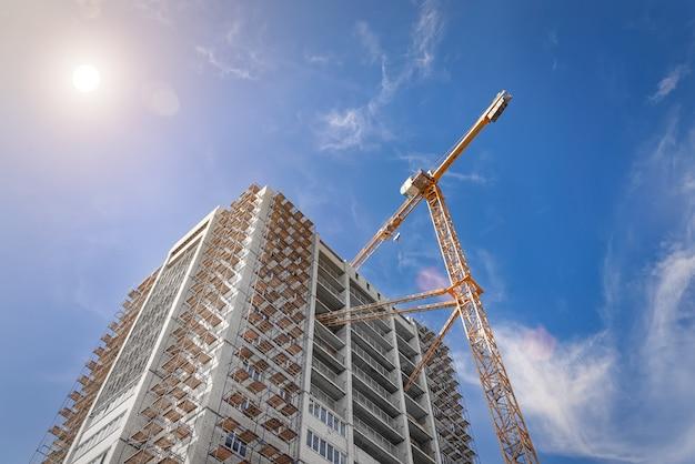 Baustelle eines modernen gebäudes