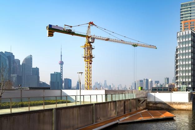 Baustelle in shanghai pudong