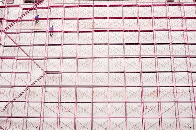 Baustelle- und gebäudestrukturhintergrund