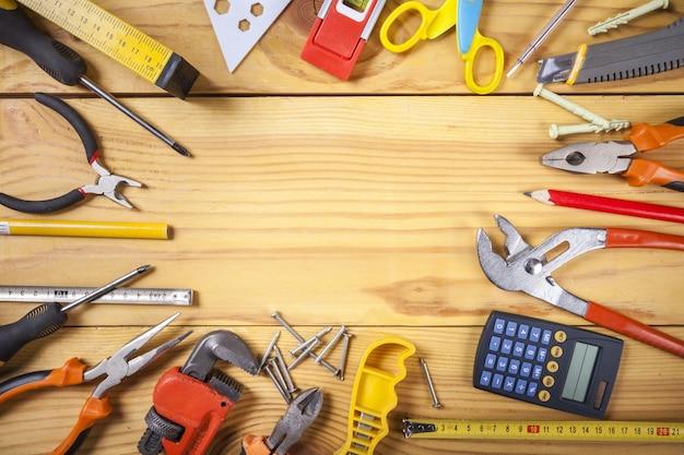 Bauwerkzeuge. hintergrund des haus- und hausrenovierungskonzepts