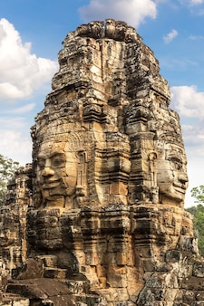 Bayon-tempel in angkor wat in siem reap, kambodscha