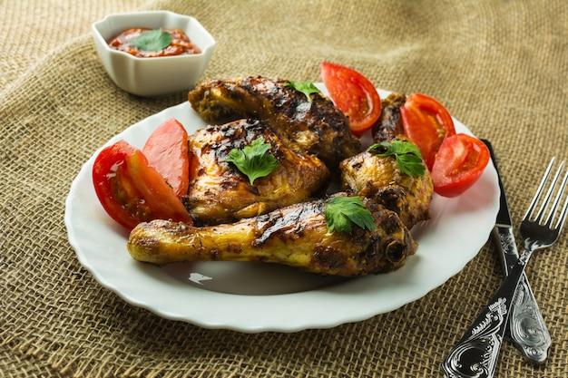 Bbq chicken wings und beine
