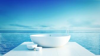 Beach Badezimmer - Luxus und modernes Hotel