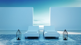Beach Lounge - Sonnenterrasse am Meer für Urlaub und Sommer