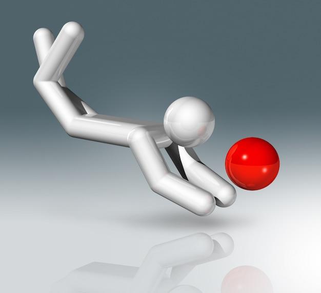Beachvolleyball 3d-symbol, olympische sportarten