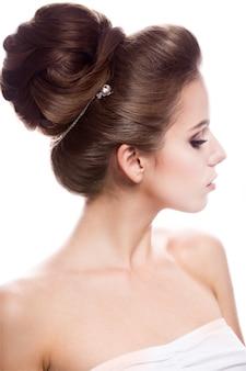 Beauty fashion model mädchen mit hellem make-up