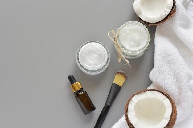 Beauty, spa, hautpflegeprodukte, natürliche inhaltsstoffe, kokosöl, gesichtsmaske.