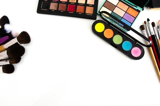 Beauty-tools-paletten-auflistung. ansicht von oben