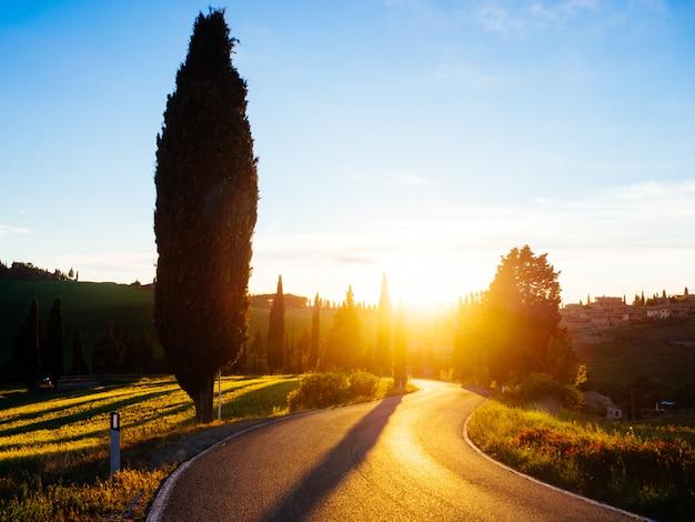 Beautyful toskana, panoramische landschaft - italien