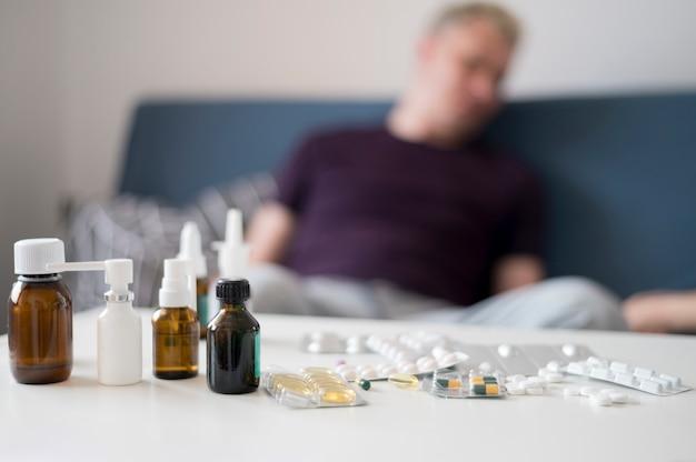 Behandlung für eine kranke person