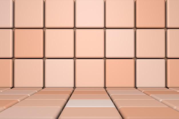 Beige abstrakte minimalszene mit podium. geometrische form der 3d-wiedergabe für kosmetisches produkt
