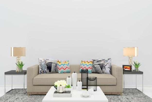 Beige bodenhintergrundbeschaffenheits-lampeninnenraum des beige farbholzwohnzimmers holz