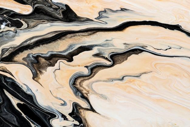 Beige flüssiger marmor hintergrund abstrakte fließende textur experimentelle kunst